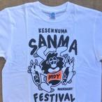 MACKDADDY×サンマフェス コラボTシャツ ホワイト&ブラック