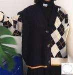 2018 秋 冬 レディース 新作 アシンメトリー セーター カーディガン ニット オルチャン 韓国ファッション 312
