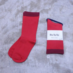 """RoToTo(ロトト) Mocchily Socks """"220N"""" RED R1249"""
