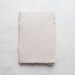 """ハンドメイドペーパー A5 ホワイトサンド 3枚/White Sand Large Sheets - 5.5x8"""" (previously A5)"""