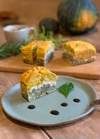 【10/15木曜発送分】かぼちゃと天の煎茶・白手亡豆のサンドケーキ~10月のパウンドケーキ
