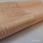 正絹絽 ピンクベージュの夏の帯揚げ