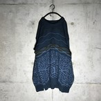 [used] two designs switched knit