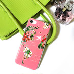 iPhone case【Pink map】