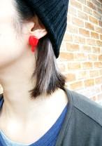 Bloodイヤリング&ピアス(大)/ Blood earring (Big)