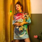 チャイナ風ワンピース チャイナ風服 中華服 改良型チャイナドレス スタンドネック 半袖 ショート丈 着痩せ 可愛い 普段着 女子会 同窓会 ファション S M L