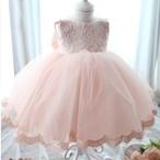 8498子供用キッズ ジュニア 女の子ドレス 発表会 結婚式七五三 フォーマル パーティー ワンピース ピンク レース