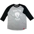 ヤビツ熊 ラグラン黒×灰 (七分袖)