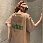 【大きいサイズ】【韓国レディースファッション】 送料無料 カジュアル バック ロゴ オーバーサイズ Tシャツ メンズライクコーデ ストリート 4514