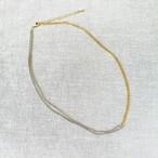 【 chabi jewelry 】バイカラーペインティングチェーンネックレス