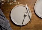 8寸 プレート白化粧にリム線刻(白)(リムプレート・大皿・25cm皿)/鈴木美佳子