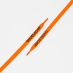 "FLAT LACES SOLID ""SHOELACES/NEON ORANGE BK"""
