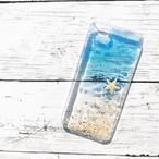 送料無料 海 iPhoneケースリジナルケース ハンドメイド レジン iPhone ケース サーフィン 海岸