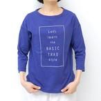 Nouvelles du paradis スラブ天竺プリントTシャツ/BLUE