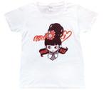 "MIKAZUKI / ミカヅキ  ""NEVER DIE"" Tシャツ ホワイト[ T-009 ]"