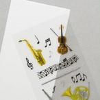 シール ビジュ 楽器と音符