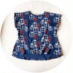 【プルオーバー】gift/ネイビー/original textile