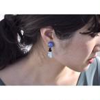 tiravisù【 skyblue _ ceramic _ earring 】vintage handmade イヤリング japan