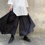 袴パンツ 黒 ボトムス ブラック ズボン モード モノトーン ストリート 韓国 オルチャン  ファッション アパレル オシャレ Rives