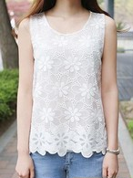 【tops】Chiffon loose bottoming vest
