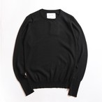 THE INOUE BROTHERS/High Guage/Crew Neck Pullover/Black