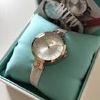 クォンタイム RITTY Happy Time Watch腕時計(ホワイト・ピンク)