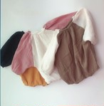 バイカラー ゆったり 長袖ロンパース 韓国子供服/韓国ベビー服 男の子&女の子