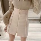 サークルジップラインミニスカート スカート ミニスカート 韓国ファッション