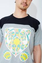 くまのフットボールTシャツ ♯グレー×ブラック