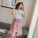 T shirts + high waist skirts set 1374
