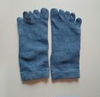 インド藍染め  シルク靴下 五本指くつ下 シルク  *ソックス