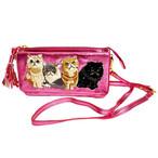 お財布ポシェットexotic cats pink