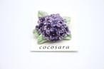 有田焼ブローチ 紫陽花