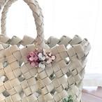 【オンライン限定価格】No212 Miniフラワーレイ2Wayバッグチャーム(花色ラメピンク・シルバー・ホワイト)