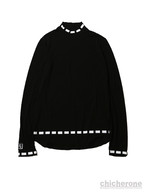 【SLEEPING TABLET】SORBET [ MOCK NECK CUTSEW ] BLACK