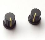【マグネット】シンセツマミ型マグネット 黒×イエロー Synth Knob Magnet SKM