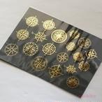 羅針盤 箔押し・金/銀 レジン封入用フィルム