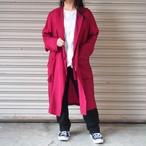 【hippiness】cupro coat(699/wine)/【ヒッピネス】キュプラ コート(ワイン)