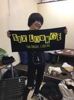 SIX LOUNGE [LOGOフェイスタオル]黄文字