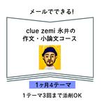 メールでできる!clue zemiの作文・小論文講座【1か月4テーマ】