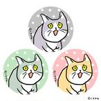 「これからしかられるネコ」缶バッチセット(3個入)