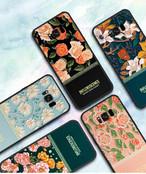 Infloerscence iPhone11Pro/xs/8plus GalaxyS10/S9Plusケース 花 女性 魅力的 欧米新品