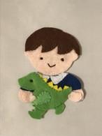 「大好き恐竜くん」 アイロンアップリケ