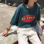 ビンテージ プリントTシャツ  古着風 カジュアル  韓国