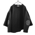 DOUBLE KNIT PONCHO DRESS -BEAR MT ELBOW PATCH / WOMEN