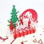 クリスマスカード クリスマスの夜 〜サンタとトナカイ〜