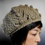 1年中使える!ふっくらコットンの手編み帽子