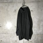 [used] black cotton shirt