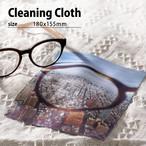 写真でオーダー・オリジナルデザイン(カスタム)メガネ拭き(180x155mm)/クリーニングクロス