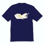 羽づくろうオカメインコTシャツ(シナモンパイド)ネイビー